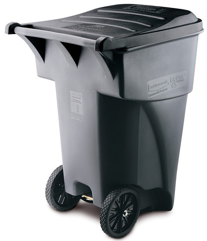 95-Gallon BRUTE Waste Rollout Container