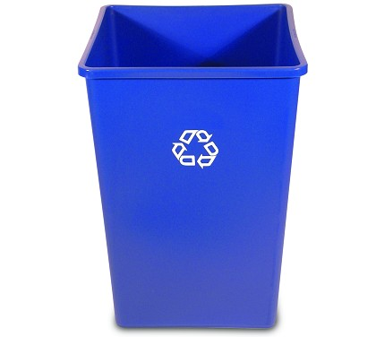 35 Gallon Untouchable Square Recycling Container