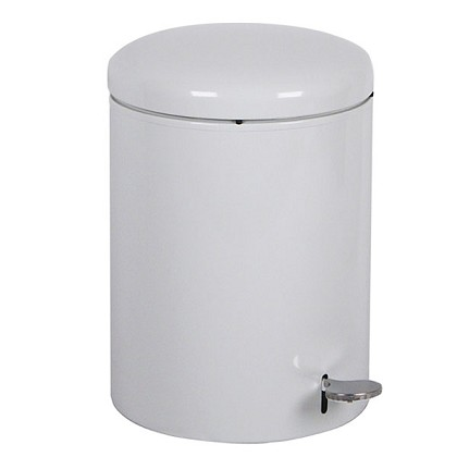 Industrial Step On Receptacle in White- 4 Gallon