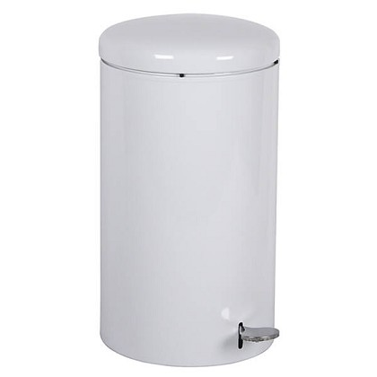 Industrial Step On Receptacle in White - 7 Gallon