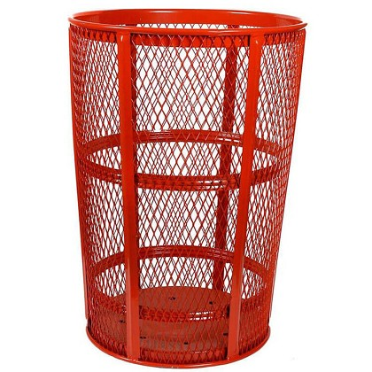 Expanded Metal Outdoor Waste in RED