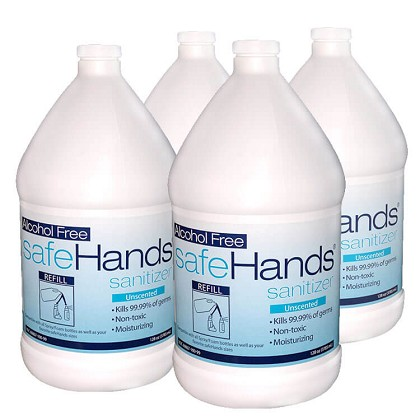 SafeHands Hand Sanitizer 4-gal/case Alcohol-Free Foaming Liquid</b>